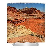 Capitol Reef Colorful Landscape Shower Curtain