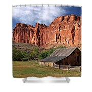 Capitol Reef Homestead Shower Curtain