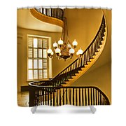 2 - Capitol Staircase - Montgomery Alabama Shower Curtain