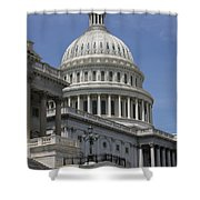 Capitol Washington Dc Steps And Stairs Shower Curtain