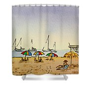 Capitola - California Sketchbook Project  Shower Curtain