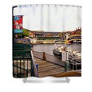 Cap'n Jacks Marina Harbor Walt Disney World Shower Curtain