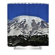 Capped Rainier Up Close Shower Curtain