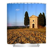 Cappella Di Vitaleta Shower Curtain