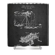 Capps Machine Gun Patent Drawing From 1899 - Dark Shower Curtain