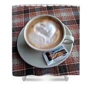 Cappuccino Love Shower Curtain