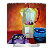 Cappuccino Morning Shower Curtain by Keith Thue