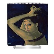 Capricorn From Zodiac Series Shower Curtain