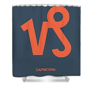 Capricorn Zodiac Sign Orange Shower Curtain
