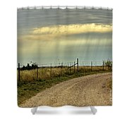 Caprock Canyon-country Road Shower Curtain