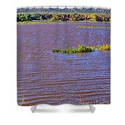 Caprock Canyon-lake Scenic Shower Curtain