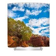 Caprock Canyon Tree Shower Curtain