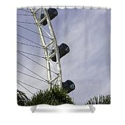 Capsules And Structure Of The Singapore Flyer Along With The Spokes Shower Curtain