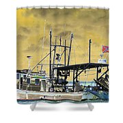 Capt. Jamie - Shrimp Boat - Photopower 01 Shower Curtain