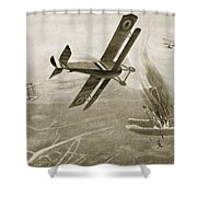Captain Hawkers Aerial Battle Shower Curtain