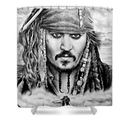 Captain Jack Sparrow 2 Shower Curtain