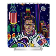 Captain Mitt Romney - American Dream Warrior Shower Curtain by Robert SORENSEN
