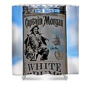 Captain Morgan White Rum Shower Curtain