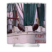 Captain Phillips And First Mate Shower Curtain