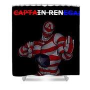 Captain Renegade Super Hero Combating Crime Shower Curtain