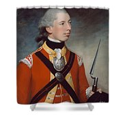 Captain Thomas Hewitt, 10th Regiment Shower Curtain by William Tate