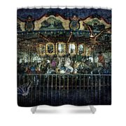 Captive On The Carousel Of Time Shower Curtain