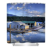 Bayview Marina 2 Shower Curtain