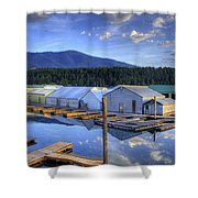 Bayview Marina 3 Shower Curtain