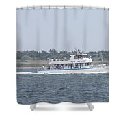 Captree's Captain Gregory Heading Out To Sea Shower Curtain