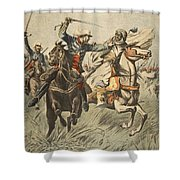 Capture Of Samory By Lieutenant Shower Curtain