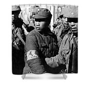 Captured Chinese Soldier Shower Curtain