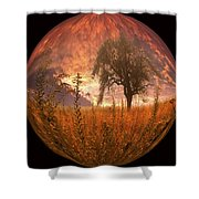 Captured Flame Shower Curtain