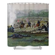 Capturing The Flag-picketts Charge Shower Curtain