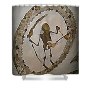 Capuchin Chapel Ceiling Rome Shower Curtain