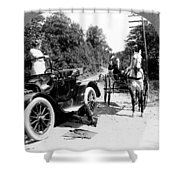 Car And Carriage, 1914 Shower Curtain