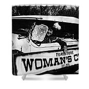 Car And Driver In Helldorado Days Parade In Tombstone Arizona 1967 Shower Curtain