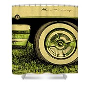 Car And Tire Shower Curtain