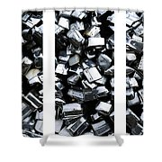 Car Bumpers Triptych Shower Curtain