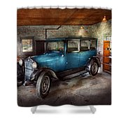 Car - Granpa's Garage  Shower Curtain by Mike Savad