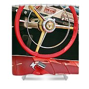 Car Interior Red Seats And Steering Wheel Shower Curtain