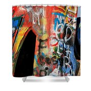 Car Of Many Colors Shower Curtain