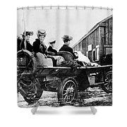 Car Race, 1908 Shower Curtain