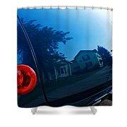 Car Reflection 8 Shower Curtain