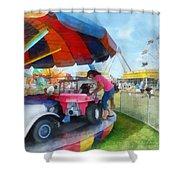 Car Ride At The Fair Shower Curtain