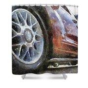 Car Rims 01 Photo Art 02 Shower Curtain