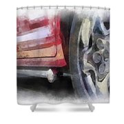 Car Rims 02 Photo Art 01 Shower Curtain