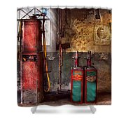 Car - Station - Gas Pumps Shower Curtain