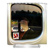 Car Window Reflection Shower Curtain