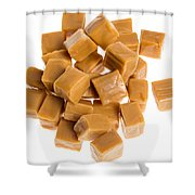 Caramel Cubes Shower Curtain