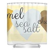 Caramel Sea Salt And Chocolate Shower Curtain